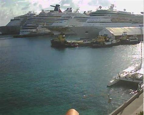 Live Nassau Cruise Ships Streaming Weather Web Cam New Providence Island Bahamas