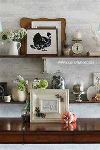 Thanksgiving dining room decorations - Lolly Jane