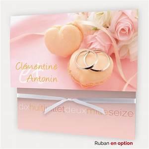 Faire Part Anniversaire Pas Cher : faire part mariage pas cher alliances macarons sur ~ Edinachiropracticcenter.com Idées de Décoration