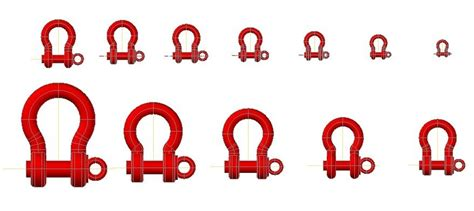 screw pin anchor shackles  dwg model  autocad