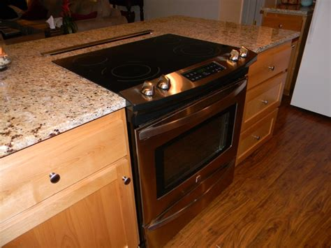 kitchen island with slide in stove kitchen island with stove oven house ideas 9453