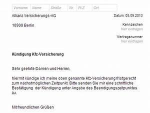 Allianz Rechnung : k ndigung kfz versicherung muster design ~ Themetempest.com Abrechnung