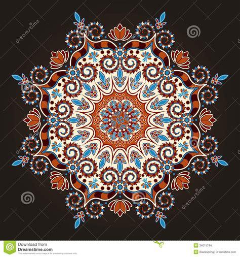 radial geometric pattern stock vector image  ornament