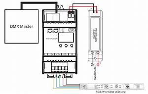 Controlador Dmx512 Voltaje Constante Para Carril Din Sr