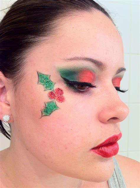 christmas makeup christmas face painting christmas