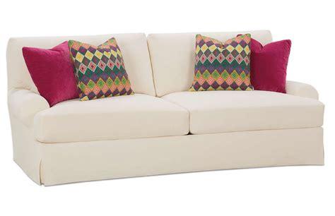 two cushion sofa slipcover decor stylish t cushion sofa slipcover for living room