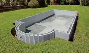 bloc piscine With construire sa piscine en bloc a bancher