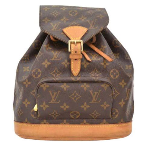 louis vuitton vintage brown monogram canvas backpack womens accessories thehutcom
