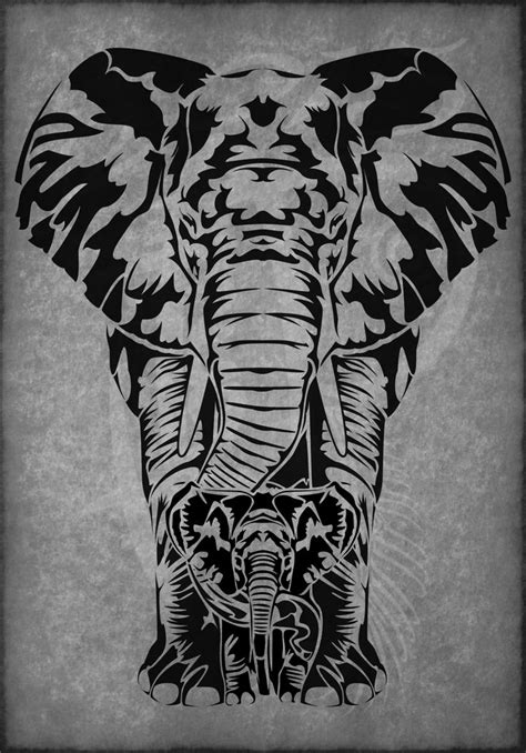 tribal elephant family tattoo - Αναζήτηση Google | body art | Pinterest | Tribal elephant