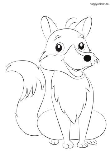 Ausmalbilder von hunden gibt es hier bei happycolorz viele, kostenlos zum ausdrucken auf einem blatt papier. Fuchs Malvorlage Kinder | Kinder Ausmalbilder