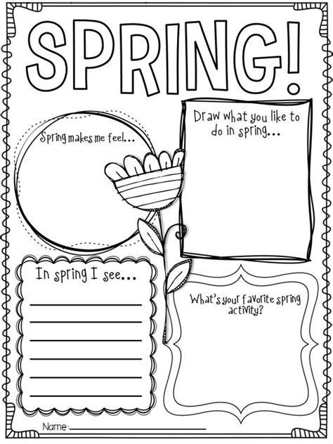 spring preschool worksheets language arts worksheets for kindergarten 814
