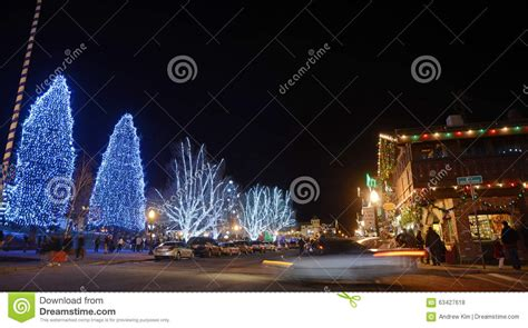 lighting in leavenworth editorial stock photo