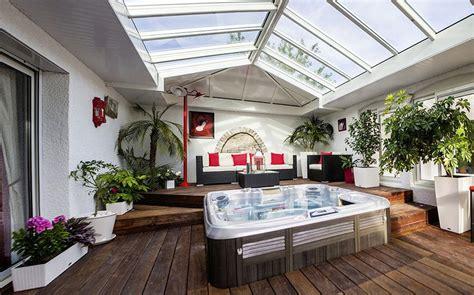 2 emission cuisine véranda spa et salon blanc cassé extension sur mesure