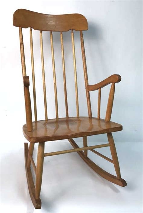classic wood rocking chair spindle back