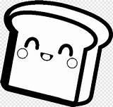 Bread Coloring Slice Kawaii Unicorn Sheets Pngjoy sketch template