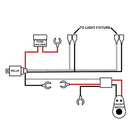 Details About Led Work Light Wiring Harness Bar Remote