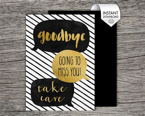 printable farewell goodbye card goodbye
