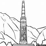 Minaret Afghanistan Jam Coloring Tower Sketch Template sketch template