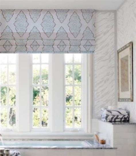 Gray And White Window Valance by Faux Shade Lined Mock Valance Stationary