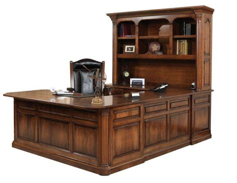 Jefferson U-shaped Desk With Optional Hutch Top From