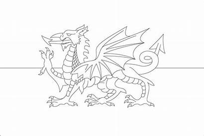 Dragon Welsh Flag Colouring Wales Coloring Pages