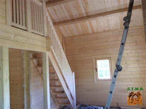 quels escaliers pour votre chalet en bois avec mezzanine