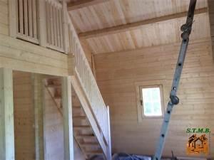 Lame Bois Pour Construction Chalet : quels escaliers pour votre chalet en bois avec mezzanine ~ Melissatoandfro.com Idées de Décoration