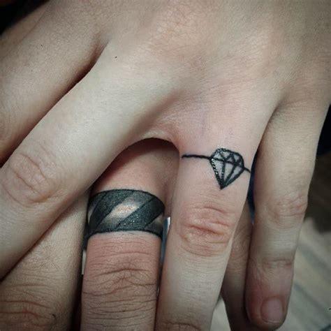 wedding ring tattoos  men ideas  inspiration  guys