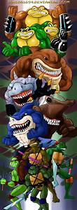 COMMISSION: TMNT vs STREET SHARKS vs BATTLE TOADS by ...