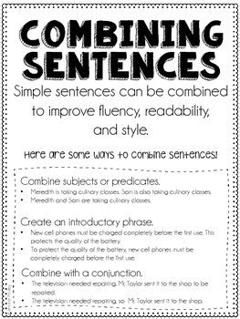combining sentences  jennifer findley teachers pay