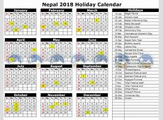 List of Public Holidays in Nepal 207520182019 Trekking