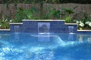 Landscape Design Fort Worth Swimming Pool With Water Features Located In Mt Pleasant
