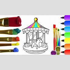 How To Draw Amusement Park With Coloring I Drawing For Children Youtube