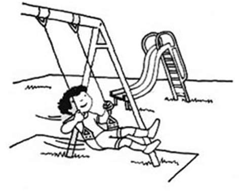 school playground clipart black and white playground clip drawing sketchloring page cliparting