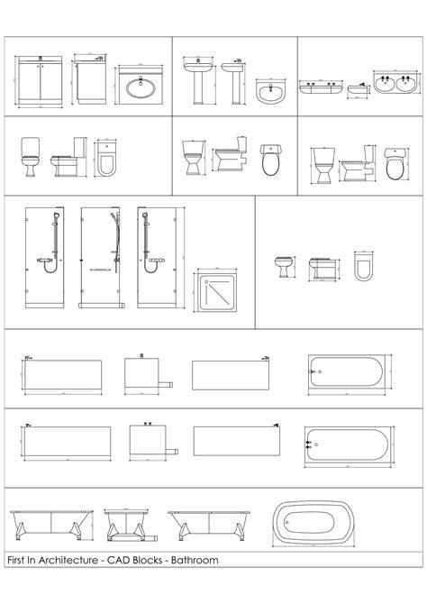 Bathroom Fixtures Cad Blocks free cad blocks bathroom