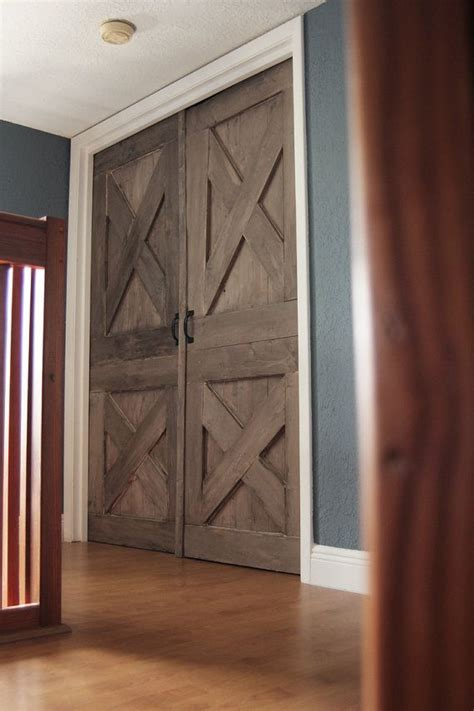 Again! Wooden Barn Door Unique Handmade Interior Rustic