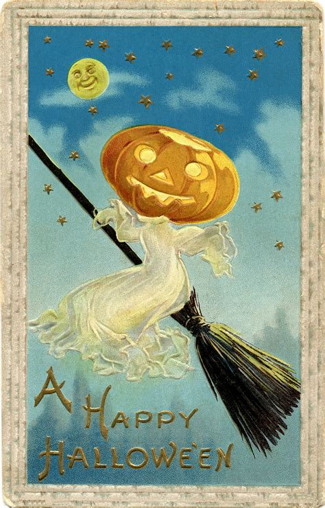 vintage halloween image  ghost  graphics fairy