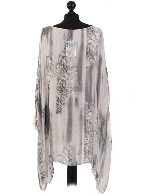 mega batwing batik italian batik print batwing silk kaftan tunic top