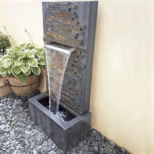 self contained water feature slate falls led lit water feature waterfall blade self contained ebay