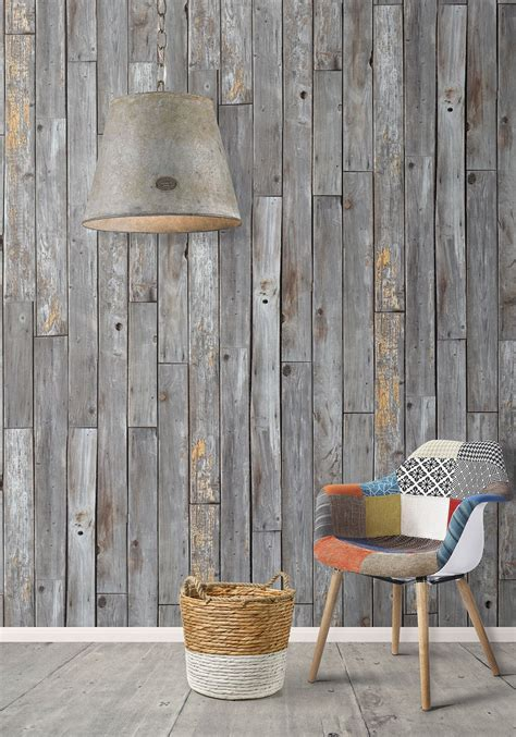 wood plank decor rustic wood panels wallpaper design by milton king burke decor