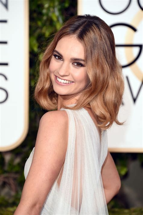 Lily James – 2016 Golden Globe Awards in Beverly Hills ...