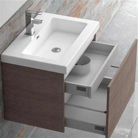 meuble salle de bain 70 cm plan vasque résine 1 tiroir modul 39 air