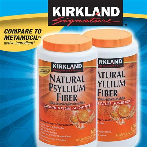fiber in pill form ks natural sylium fiber sugar free 2 180ct 561527 south