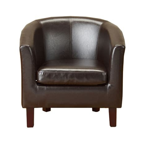 Leather Dining Armchair by New Brown Faux Leather Pu Tub Chair Armchair Dining Room