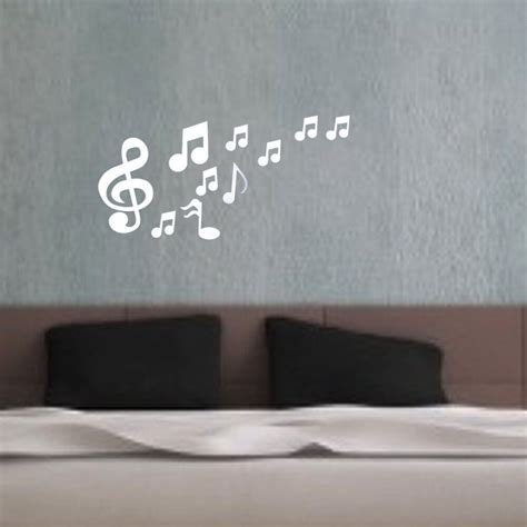 home decor stickers musical notes acrylic mirrors wall sticker home decor