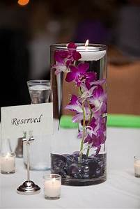 Floating candle and orchids #wedding #reception # ...