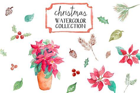 watercolor christmas illustrations creative market