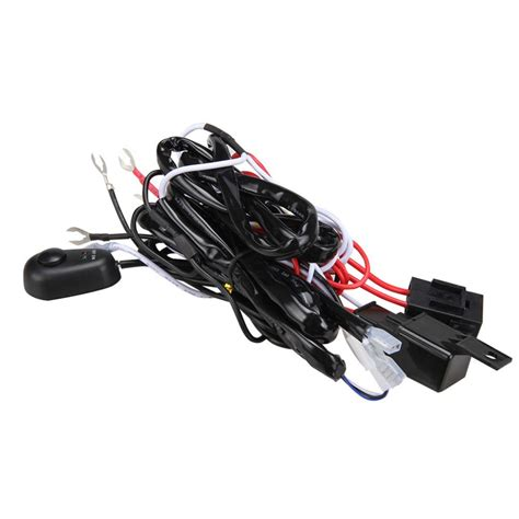 new high quality universal12v40a car fog light wiring harness kit loom for led work driving
