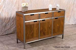 Sideboard Holz Metall Sideboard Lexiago Aus Holz Massiv