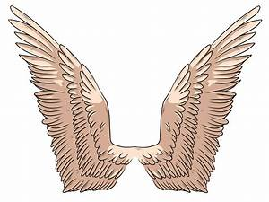 Simple Angel Wings Drawing - Cliparts.co